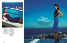 Indigo-Inspired Editorials - Stella Magazine 'So Who's Feeling Blue' Stars Katryn Kruger