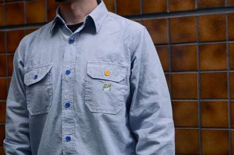 super mario chambray shirts