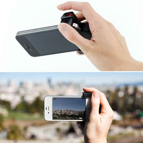 Smartphone Photo Handles - The Belkin iPhone Shutter Grip Provides a Steadying Ergonomic Handhold