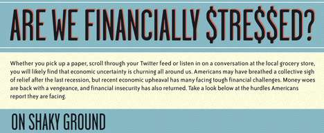 Financial Insecurity Images - The 'Are We Financially Stressed?' Infographic Showcases Money Woes