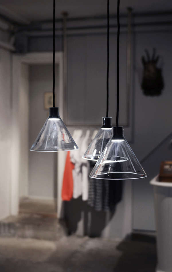 Glass Funnel Lamps