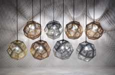 Hexagonal Prism Lighting - The Etch Shade by Tom Dixon is Glamorously Industrial