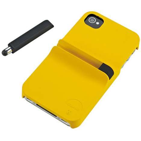 Stylus-Embedded Cases - The Ozaki iCoat Finger iPhone Protector Allows People to 'Grab and Write'