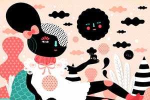 Norma de Leon Illustrates Shadowy Figures in a Wonderland