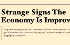 The &#8216;Strange Signs Economy is Improving' Infographic