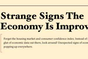 The 'Strange Signs Economy is Improving' Infographic