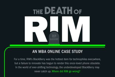 Crumbling Corporation Charts - 'The Death of RIM' Inforgraphic Represents the Company's Downfall