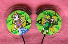 The Princess Zelda and Link Headphones are Adorable