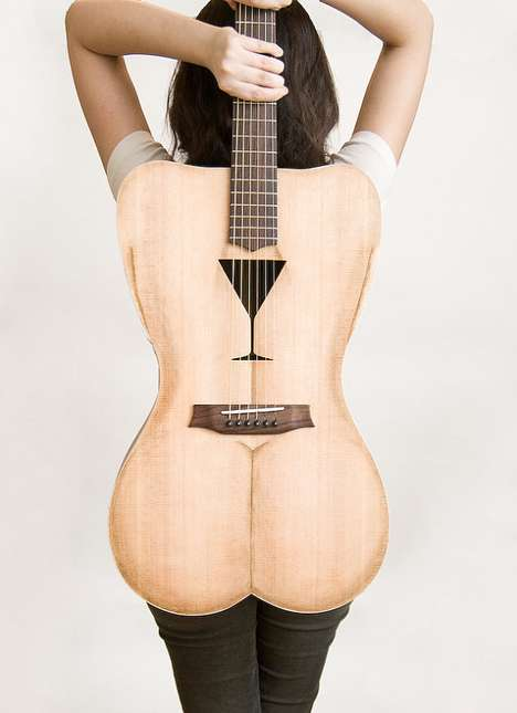 Bizarre Body-Shaped Axes - The 'Female Form 6 String Acoustic Guitar' is Curvy