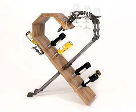 Heart-Shaped Wine Racks - Vino Vitae by Axel Yberg is Made for Cancer Survivors