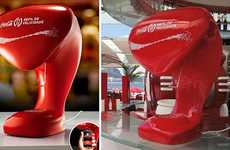 Internet Access Vending Machines - The Coca Cola Happiness Refill Fountain Lets You Log On