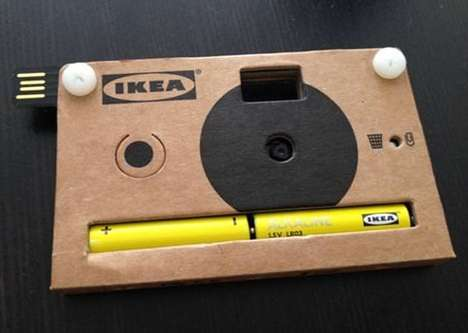 Disposable Digital Cameras - The IKEA Cardboard Digital Camera is Debuted at Milan Design Week