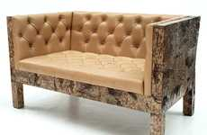 Opulent Organic Furniture - Werner Neumann Using Atypical Materials to Create Statement Pieces