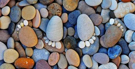 Rocky Feet Photography - The Stone Footprints Series by Iain Blake is Absolutely Adorable - http://www.trendhunter.com/trends/stone-footprints (http://ff.im/1kdfKv üzerinden)