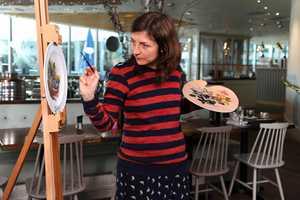 Natasha Law Transforms Restaurant Plates Into Painted Masterpieces