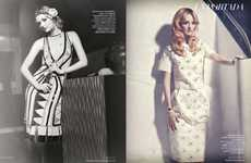 Multi-Era Ladylike Editorials - The Lydia Hearst Harper's Bazaar Spain Photoshoot is Glamorous