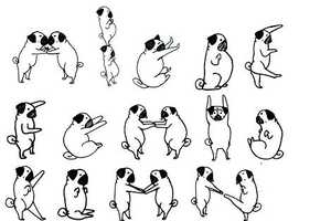 This Pug Alphabet by the 'Bah Humpug' blog is Adorable and Funny