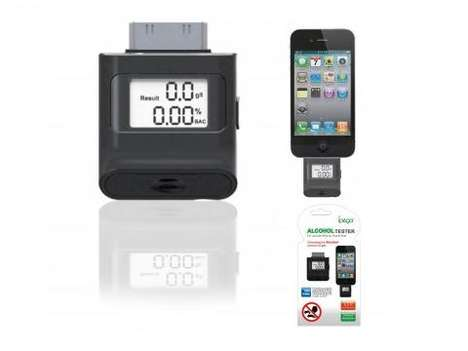 Smartphone Breathalyzer Monitors - The iBreathAnalyzer Reveals Intoxication Levels to Apple Users