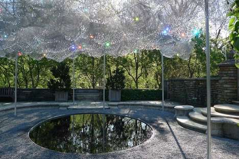 Overcast Crystal Installations - Cloud Terrace by Andy Cao and Xavier Perrot is Enchanting