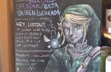 Nostalgic Cafe Chalkboard Art