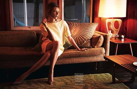 Disheveled Retro-Inspired Photoshoots - The ELLE UK
