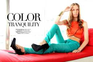 The Color Tranquility Photoshoot Pays Homage to 60s Styles