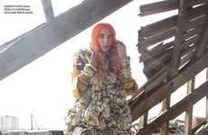 Junk-Covered Couture - The Nikolai De Vera IN Magazine Editorial Turns Trash to Treasure