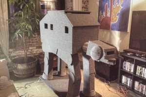 Redditor Billy Appletini Builds Awesome AT-AT Walker Cat Condo