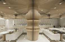 Sculpturally Ribbed Interiors