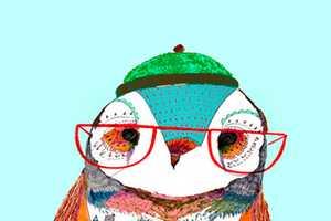 England-Based Designer Ashley Percival Creates Hipster Bird Prints