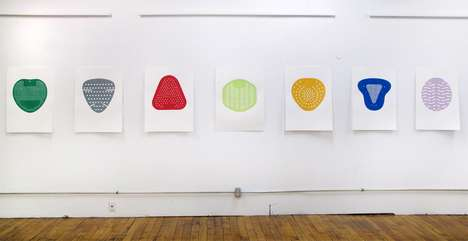 Colorful Toilet Prints - The Tom Howes Urinal Silkscreens are Full of Fun