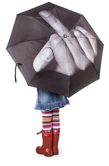 Provocative Parasols - The F*ck the Rain Umbrella Lets Mother Nature Know What You Really Think