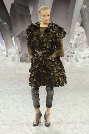 Chic Camouflaged Couture - The Chanel Fall 2012 Earth-Disguised Designs are Ethereal