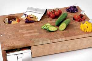 The Curtis Stone Workbench Cutting Board is Seriously Organized