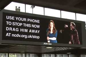 Interactive Billboard by NCDV Allows Texters to 'Drag Him Away'