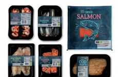 Chalkboard Seafood Branding - This Tesco Packaging by R Design Feels Like a Trip to the Fishmonger