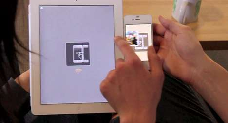 Touchscreen File Sharing Apps - Swyp Technology Allows Files to be Dragged and Dropped