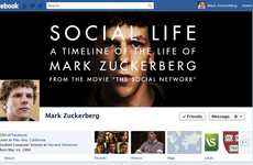 Facebook Founder Timelines - The Mark Zuckerberg Infograph is Cinematically Inspired