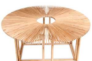 The Fan Table by Mauricio Affonso Explores Social Interaction