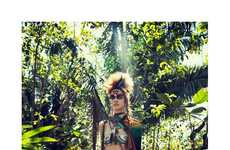 Wild Warrior Editorials - The Vogue Netherlands Photoshoot Stars a Savage Rianne ten Haken