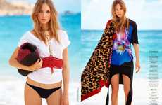 Couture Beach Bum Captures - The Madame Figaro 'Tee-Shirt Show' Editorial Stars Siri Crafoord