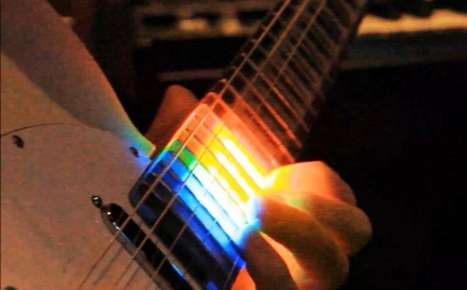 illuminating guitar necks neckfx by colour cartel designs a colorful led gu