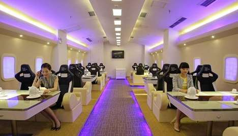 a380 airplane restaurant