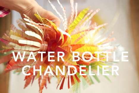 DIY Eco Chandeliers - The Oh Happy Day Water Bottle Chandelier is Affordable and Cute