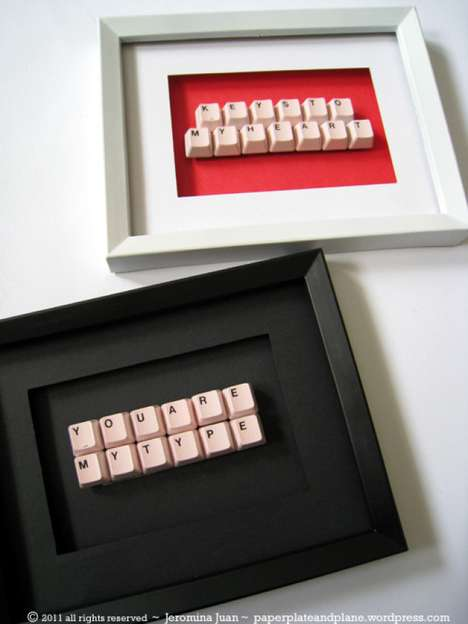 framed keypad messages jeromina juan uses old keyboard keys to make persona