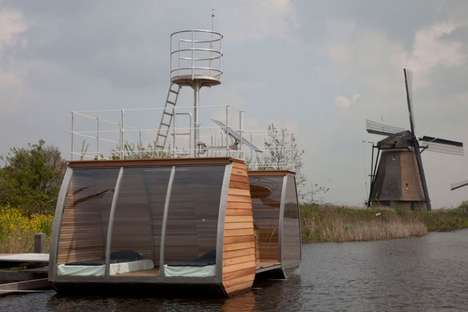 Sustainable Hovering Hotels - The Marijn Beije Floating Eco Lodge Levitates Above Ground
