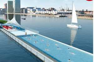 The de Badboot Lido Aquatic Center is Built from an Old Ferry