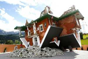 The Upside Down House in Terfens, Austria is Disorienting