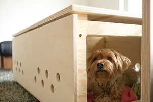 The DIY Pet Crate Coffee Table is a Home in Disguise
