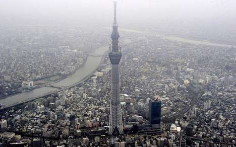 The Tokyo Sky Tree Tower Reaches for the Heavens